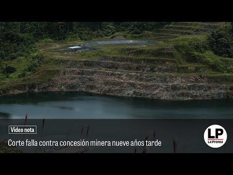 Corte falla contra concesión minera nueve años tarde
